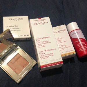 Clarins sample skin care set + bronzer